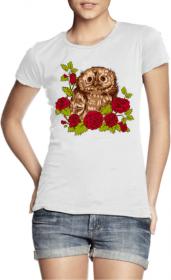 Сова и розы