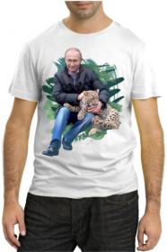 Путин с леопардом